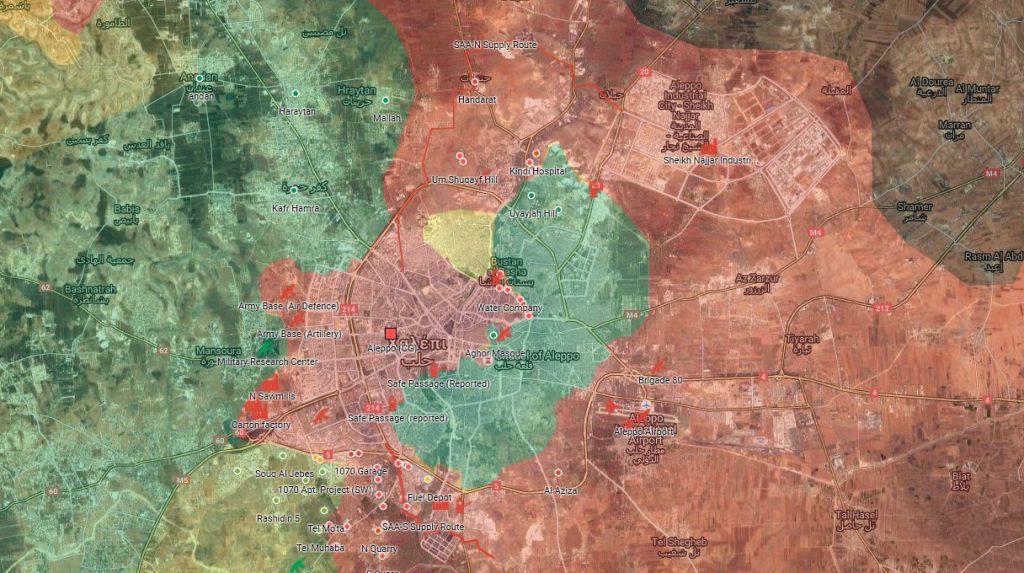 Το χαλέπι στις 6/10/2016. Παγιωμένη πολιορκία, επεκταμένος έλεγχος του καθεστώτος σε νέες συνοικίες. Οι αντικαθεστωτικοί σε εξαιρετική δεινή θέση.