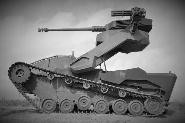 Ημιαυτόνομο στρατιωτικό ρομπότ μάχης εδάφους (tracked military robot)