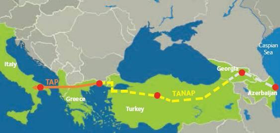 Η Τουρκία γεωγραφικά χωρίζεται σε τεταρτημόρια ελλείψεως αγωγών