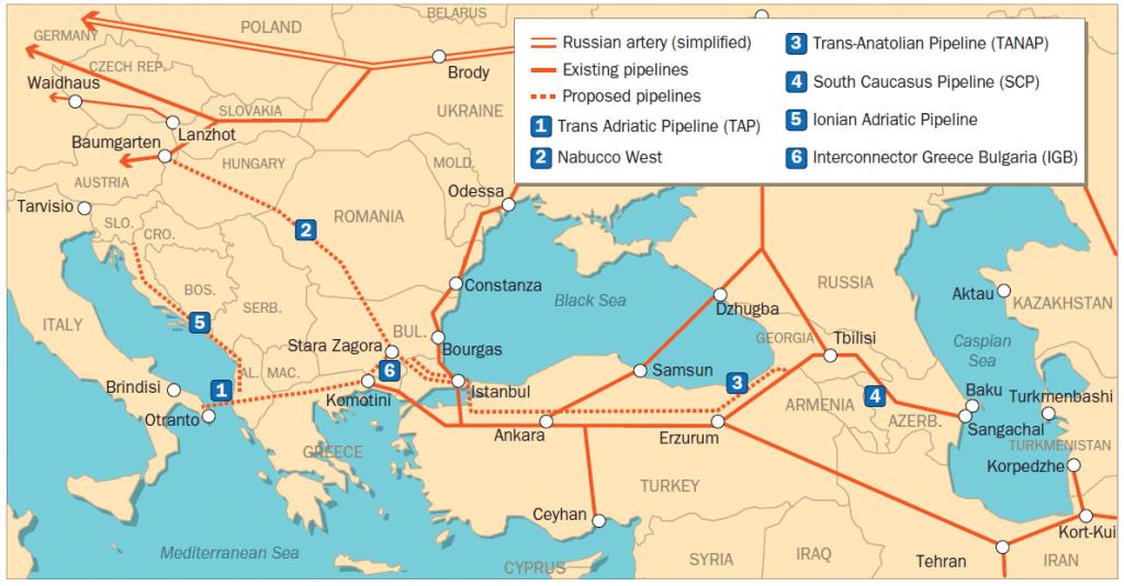Η Τουρκία γεωγραφικά είναι χωρισμένη σε τεταρτημόρια ελλείψεως αγωγών