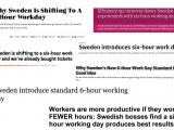 Η αβάσταχτη ελαφρότητα των 6 ωρών εργασίας στη Σουηδία